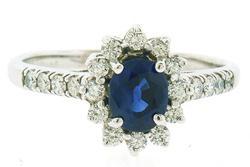 Classic Elegance: Sapphire & Diamond Ring at 1.50 CTW
