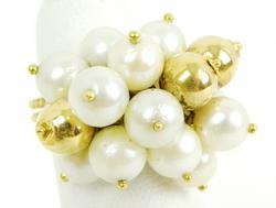 Vintage 18K Pearls & Beads Ring