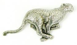 Big Impressive Sterling Jaguar Brooch