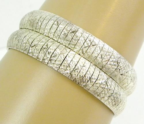 High End Wide Italian Sterling Silver Bracelet