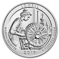 2019 Silver 5oz Lowell National Historical Park MA