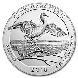 2018 Silver 5oz Cumberland Island