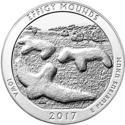 2017 Silver 5oz Effigy Mounds National Monument