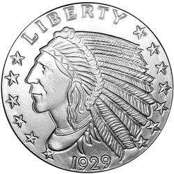 Silver Bullion 5oz Indian Round .999 fine