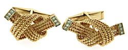 Gents Rope Knot Cufflinks with Diamonds