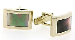 Gents Shell Inlay Cuff Links
