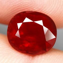 Substantial 6.83ct untreated red orange Garnet
