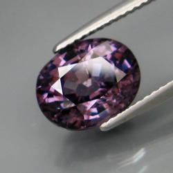 Tight confetti flashing 3.77ct violet Spinel
