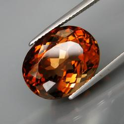 Exquisite 13.73ct whiskey red Imperial Topaz