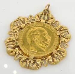 Prussian 10 Mark Gold Coin Pendant