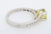 1.21CTW Yellow Diamond Ring