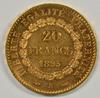 Prooflike BU 1895-A France 20 Francs Gold 'Angel'