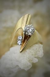 Modern 3/4 ct. 14K Diamond Ring