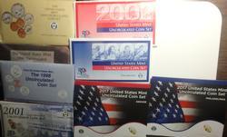 Later Date US Mint Set lot 1990 96 98  01 02 & 11  With Original Envelopes