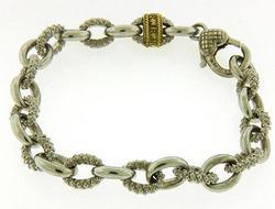 Judith Ripka 2 Tone Textured Bracelet