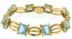 Striking Blue Topaz Bracelet at 30.0 CTW