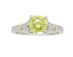 1.21CTW Yellow Diamond Ring