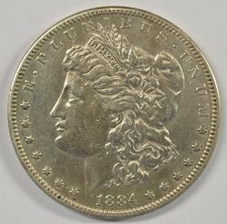 Scarce 1884-S Morgan Silver Dollar in high grade