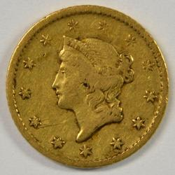 Very scarce 1849-O Type One $1 Gold Piece