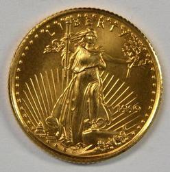 Pristine Gem BU 1999 $5 American Gold Eagle coin