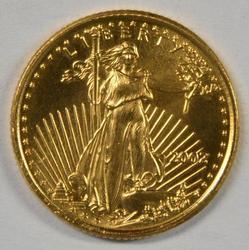 Pristine Gem BU 2002 $5 American Gold Eagle coin