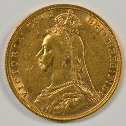 Great 1892 'Jubilee Head' Great Britain Gold Sovereign