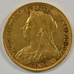 Super 1893 'Veiled Head' Great Britain Gold Sovereign