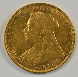 Super 1899 'Veiled Head' Great Britain Gold Sovereign