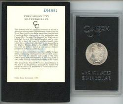 Choice BU 1882-CC Morgan Silver Dollar in GSA pack
