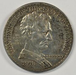 Desirable 1918 Lincoln-Illinois Commemorative Half 50c