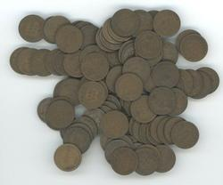 Bag of 100 nice circulated Indian Head Cents 1900-08