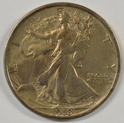 Scarce upper end 1918-D Walking Liberty Half Dollar