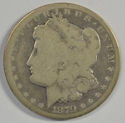 Key date 1879-CC Morgan Silver Dollar. Circ