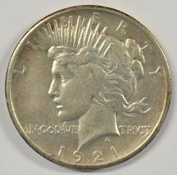 Great-looking 1921 Peace Silver Dollar. Key date