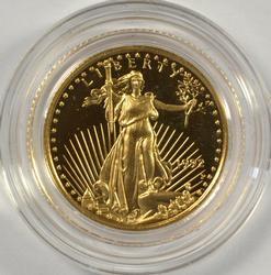 Gem Ultra Cameo Proof 1992 $5 Gold Eagle. Capsule