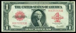 Crisp near new 1923 Series Large Size $1 Red Seal Note
