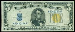 Great CU 1934-A Series $5 North Africa Silver Cert.