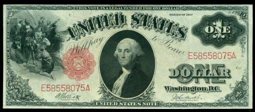 Lovely Series of 1917 Large Size $1 Legal Tender Note
