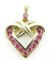 Sterling Vermeil Heart Pendant with Pink Topaz