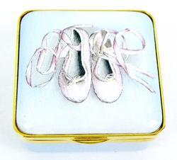 Halcyon Days Enamel Box, Ballet Slippers