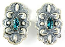 M. Morgan Navajo Sterling Turquoise Earrings