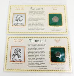 2 Genuine Bronze Ancient Roman Emperor Coins