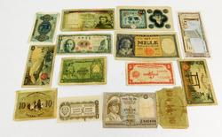Vintage Lot of Foreign Paper Money