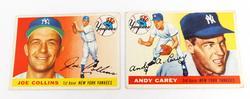 2 Topps 1955 NY Yankees Baseball Cards