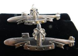 2 U.S. Ballastic Submarine Pins