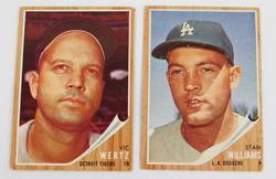 2 Topps 1962 Baseball Cards