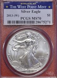 2013- (W) MS70 Silver Eagle, PCGS