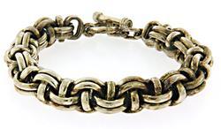 Heavy Fancy Silver Link Bracelet