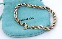 Tiffany & Co. Sterling & Gold Rope Bracelet