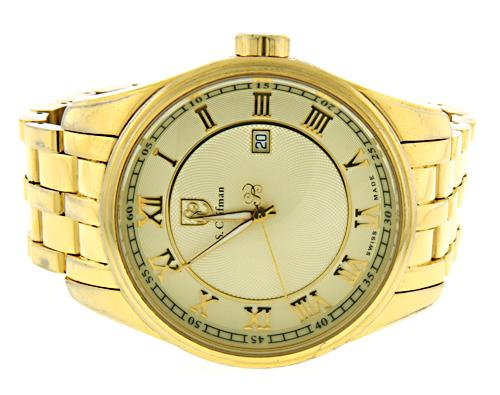 S. Coifman Gold Tone Date 46mm Watch
